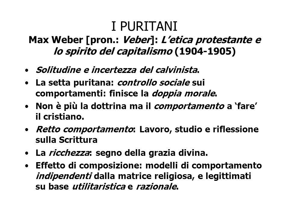 I PURITANI Max Weber [pron